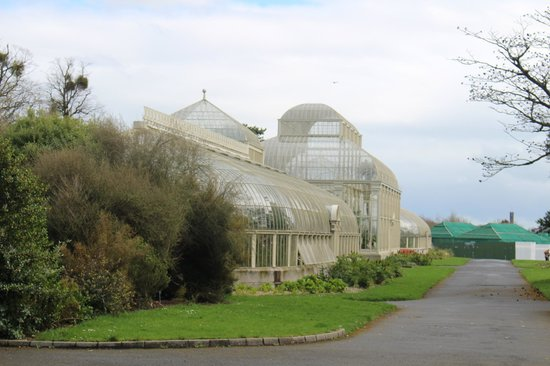 National Botanic Gardens: old iron and glass structures