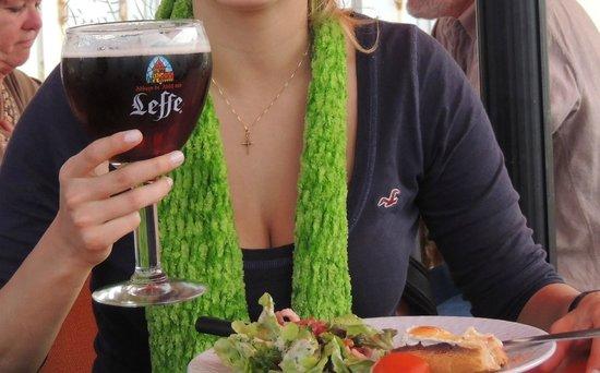 Le repaire des pirates : Repaire des Pirates - Etretat - Leffe + salada