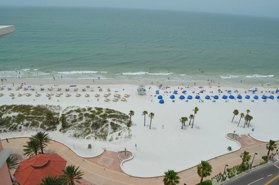 Hyatt Regency Clearwater Beach Resort & Spa: View of BEach & Gulf of Mexico from Our Terrace