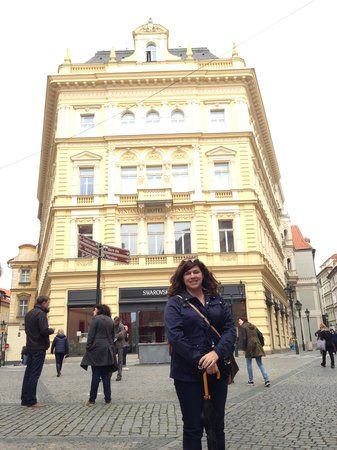 Ventana Hotel Prague: The front view of the hotel.