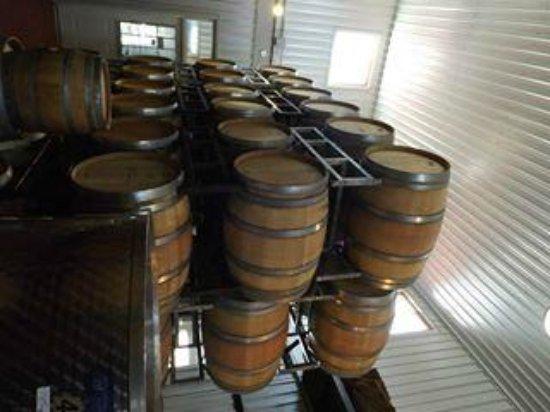 Kacaba Vineyards Winery: Stacks of Barrel Aging