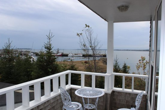 View from the deck at Compass Rose Heritage Inn