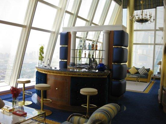 Burj Al Arab Jumeirah: In suite Cocktail bar.
