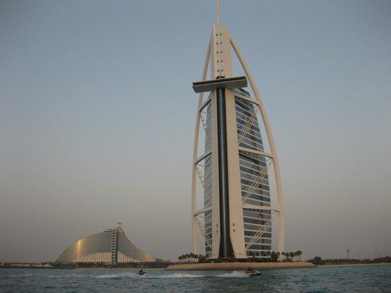 Burj Al Arab Jumeirah: Taken from motor launch.