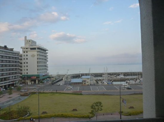 Hotel New Tsuruta: 別府湾を望める部屋からの眺め