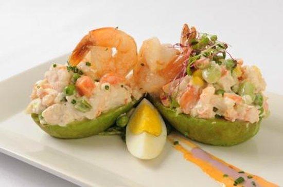 El Pollo Inka Miami: Shrimp stuffed Hass Avocado