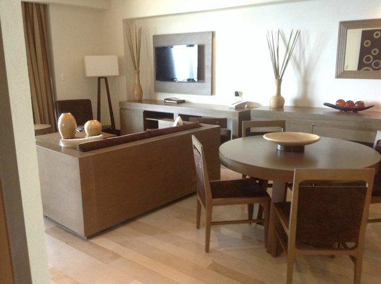 Now Amber Puerto Vallarta: Master suite dining/living area.