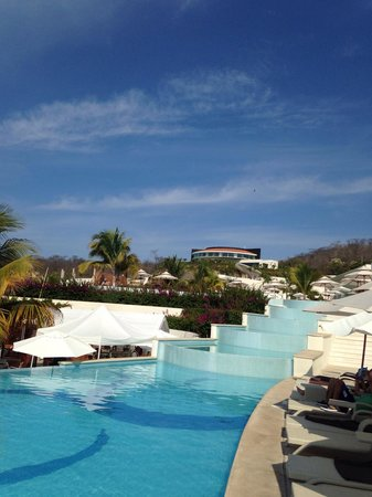 Secrets Huatulco Resort & Spa : View of the spa