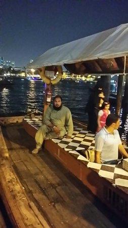 Bur Dubai Abra Dock : on the boat