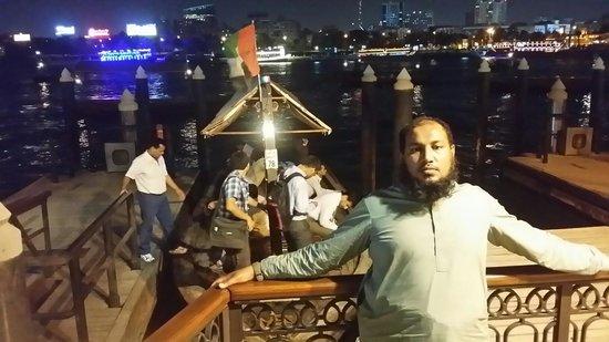 Bur Dubai Abra Dock : on the side of diera