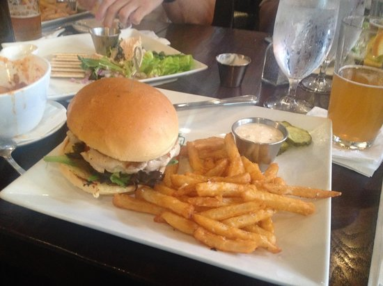 "Green Turtle Inn: Special of the day ""Snapper Burger"""