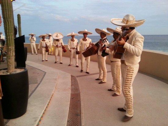 Grand Solmar Land's End Resort & Spa: Lively Mariachis entertaining everyone at the Cinco de Mayo party. Fun, fun, fun!