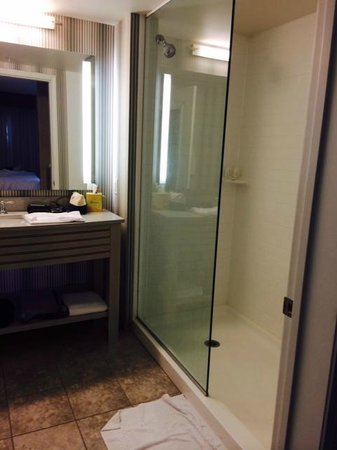Residence Inn by Marriott Portsmouth: Shower in Studio Room (Rm 233)