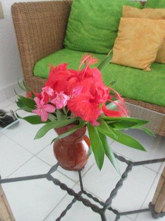 Starfish Jolly Beach Resort : Fresh flowers in our room