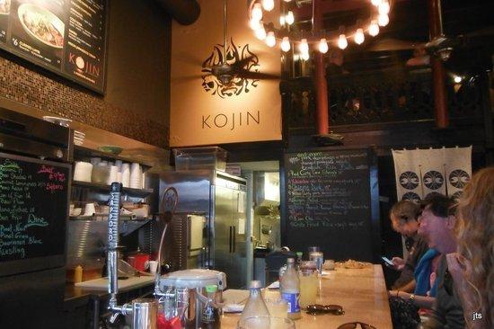 Kojin Noodle Bar: Inside view - faces blurred