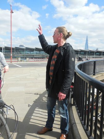 Cycle Tours of London: one of our first stops