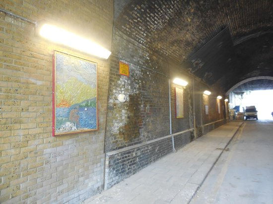 Cycle Tours of London: pretty tunnel w artwork we rode through