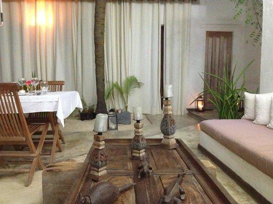 Posada La Cigala: A área comum, local das refeições.