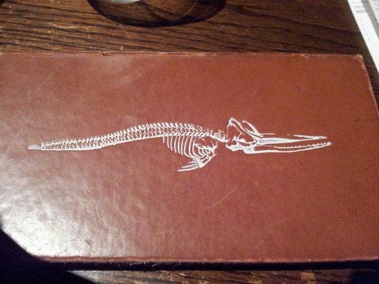 The Whalesbone Oyster House: Il logo sul conto