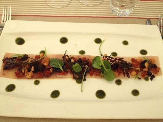 Restaurant Clair de Plume Gastronomique : le Carpaccio d'espadon