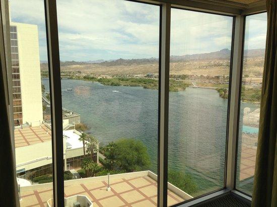 Aquarius Casino Resort: My view from the window.