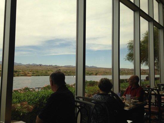 Aquarius Casino Resort: Windows on the River buffet.