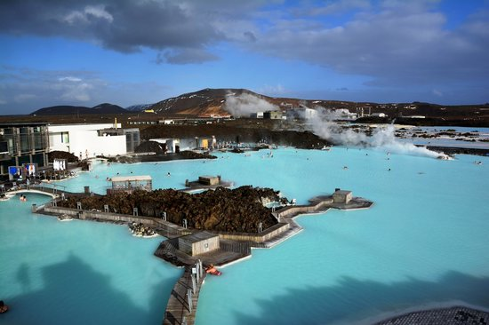 Blue Lagoon Iceland: Deck view ..