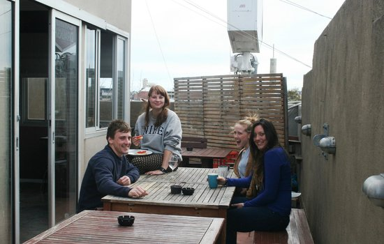 The Spencer Backpackers: Rooftop balcony (great views)