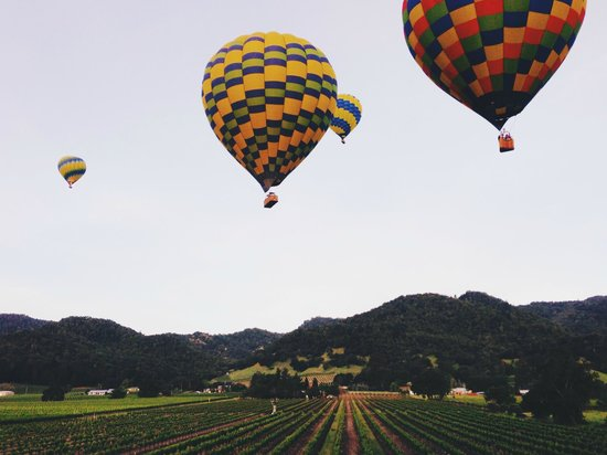 Balloons Above the Valley: up and away!