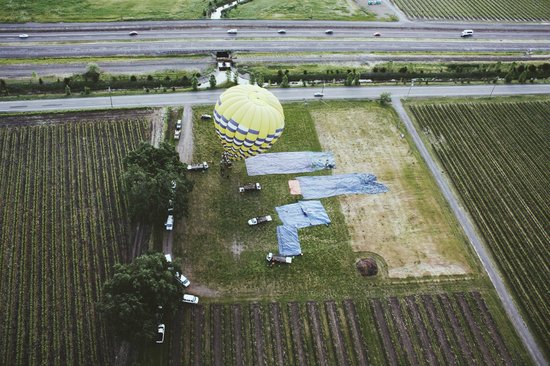 Balloons Above the Valley: the launch point. launched with 3 other balloons