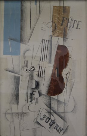 Philadelphia Museum of Art: Braque: Violin and Newspaper