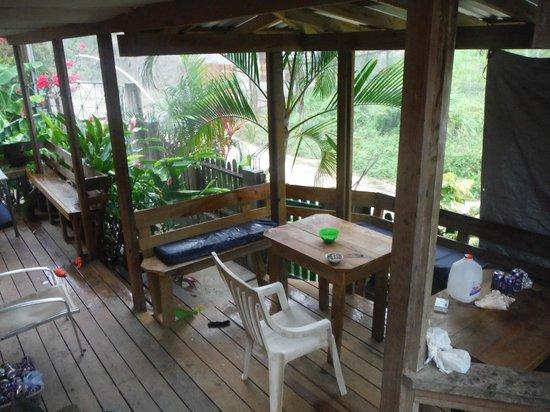 Roatan Backpackers' Hostel: Porch