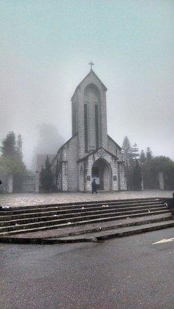 Holy Rosary Church Or the Stone Church : Church in the fog
