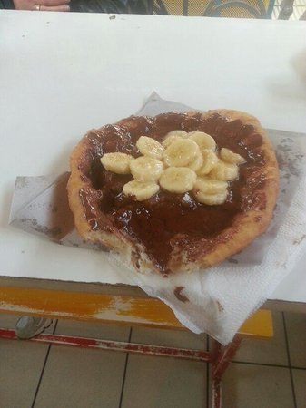 Central Market Hall : Langos with nutella and bananas... Delicious!