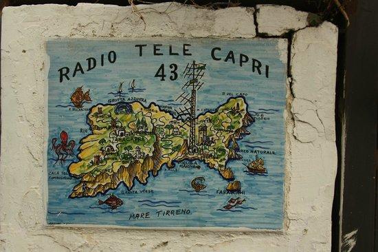 Grand Hotel Capodimonte: карта о.Капри
