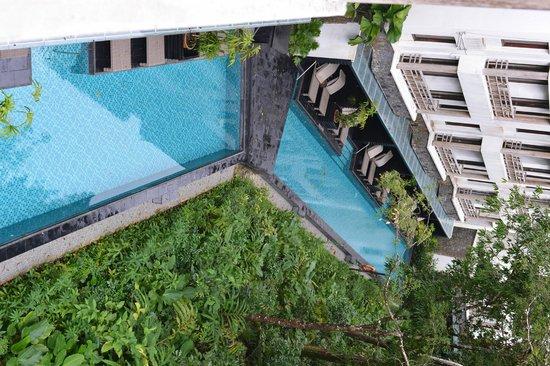 The Andaman, A Luxury Collection Resort : たぶんスイートかな?プール付のお部屋が下にあります