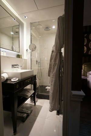 La Maison Favart: Shower and sink in room 41