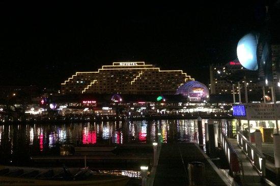 Novotel Sydney on Darling Harbour: Novatel from across darling harbour