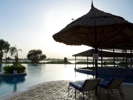 Jolie Ville Hotel & Spa - Kings Island, Luxor : subset by the horizon pool