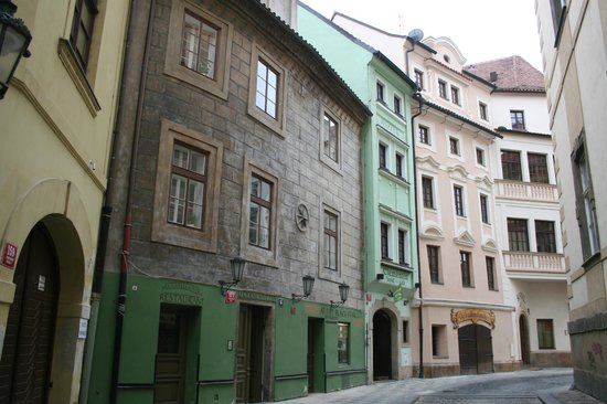 Charming Prague Apartments At the Black Star: the outside