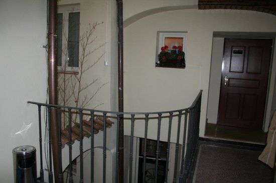 Charming Prague Apartments At the Black Star: inside..going to second floor