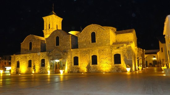 Larnaka, Kıbrıs: The Church of Saint Lazarus by night