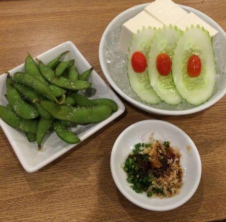 Kinkaku: 枝豆と冷奴
