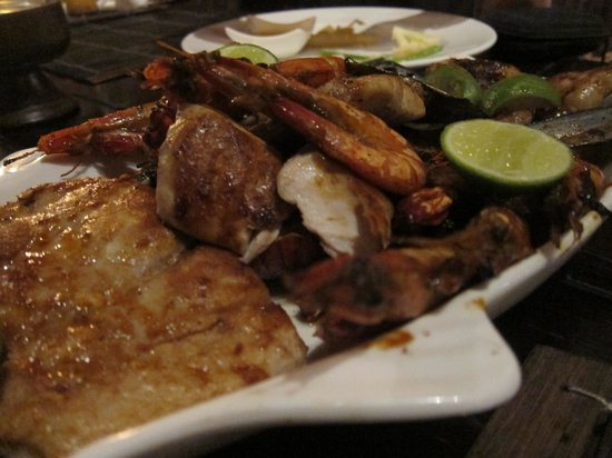 Taman Restaurant: Seafood platter