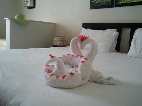 SENTIDO Reef Oasis Senses Resort: Фигурки из полотенец