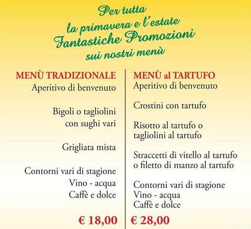 Offerta menu Pizza 12€ - Picture of La Terrazza dei Colli, Vo ...