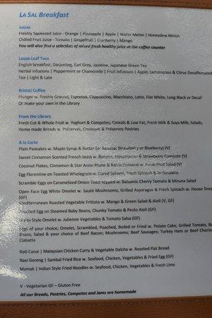 Casa del Mar, Langkawi: 朝食メニュー roti canaiがおすすめ