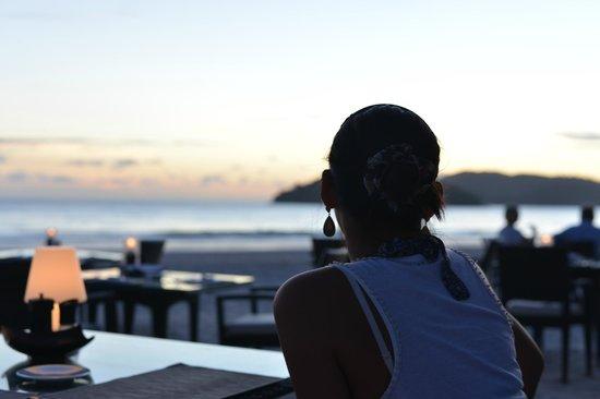 Casa del Mar, Langkawi: 夕日を見ながらディナー