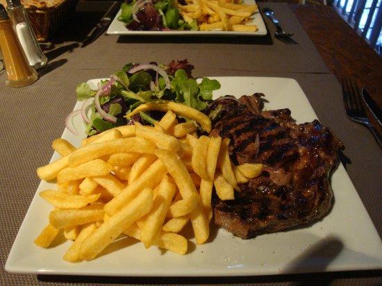 Malabar restaurant : Une délicieuse entrecôte