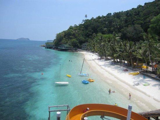 Alang's Rawa : view from water slide